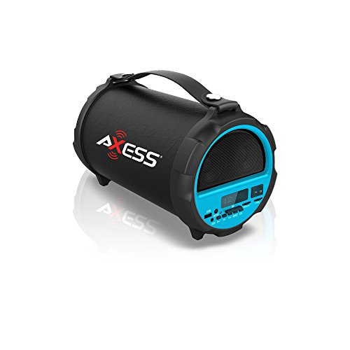 Axess spbt1037 portable bluetooth indoor outdoor 2 1 hi fi for Mobile porta hi fi