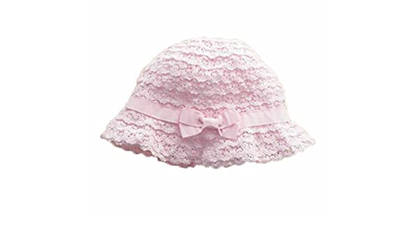be54525ffca Amazon.com  Summer Baby Girl Caps Cotton Sun Hat For 2-3 Years Baby Pink  Lace  Baby