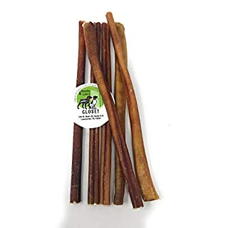 Sancho & Lola's 12-inch Standard Bully Sticks for Dogs - (5-6 Count) Grass-fed Free-Range Grain-Free High-Protein Pizzle Dog Chews