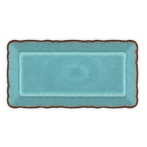 Le Cadeaux 297ATQT Antiqua Turquoise Biscuit Tray, 10.6 inches,
