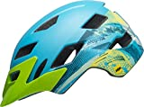 Bell Sidetrack MIPS Youth Bike Helmet (Gnarly Matte Bright Blue/Bright Green (2019), One Size)
