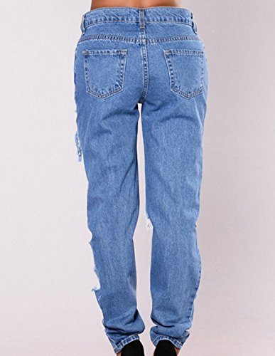Asymtrique Trou Dlav Dchir Dcontracte Comme Femme Jean Up Image Pantalons Jeans Push ZxSnqfX
