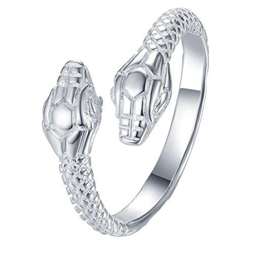 HoBST Vintage Band Snake Ring Men Adjustable Punk Biker Rings Jewelry