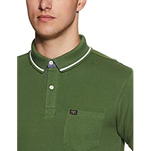 Amazon Brand – Symbol Men's Solid Regular fit Half Sleeve Polo