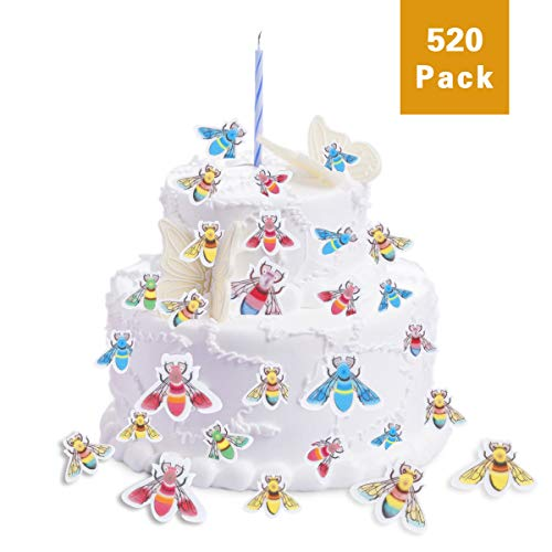 FishMM 520 Pieces Edible Wafer Paper Rainbow Busy Little Bees Baking ...