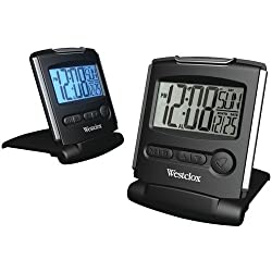 Westclox Fold-up Travel Alarm Clock - 2 LCD