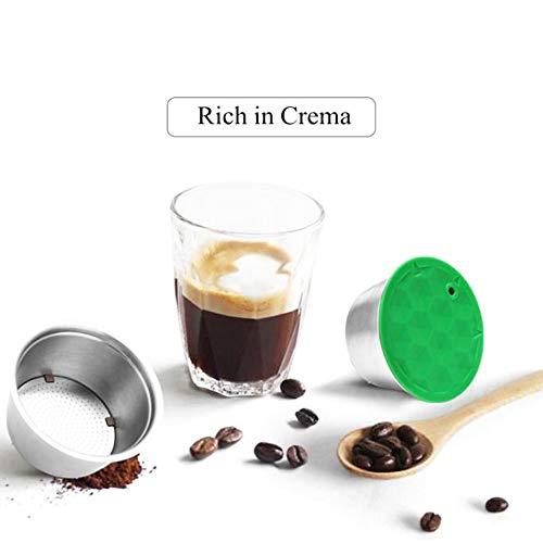 MG Coffee Stainless Steel Dolce Gusto Refillable Capsules Coffee Filters Reusable Coffee Pods Compatible for Dolce Gusto Mini Me Genio Piccolo Esperta Circo (Silver) (Piccolo Genio)