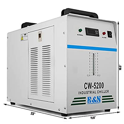 Mophorn Water Chiller Capacity Industrial Water Chiller Thermolysis Type Industrial Water Cooling Chiller for Laser Engraving Machine