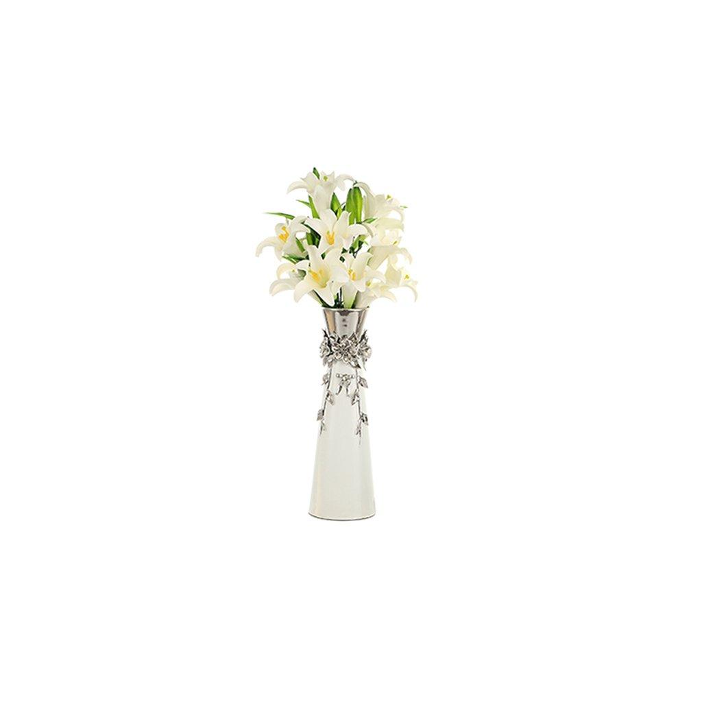 GAOLILI クリエイティブホームリビングルーム工芸品室内セラミックフロア大きな花瓶花乾燥花の磁器 ( サイズ さいず : B ) B07BMXNZB2B