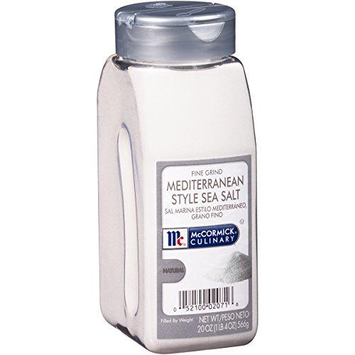 McCormick Culinary Mediterranean Grind Sea Salt, Fine, 20 Ounce