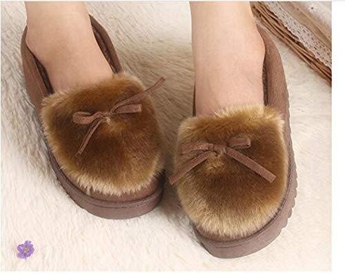 Doux Peluche Accueil Fluffy Nikimi En Mignon Panda Chaud Chaussons Printemps dérapant Marron Automne Nouveau Tail Anti Chaussures Adorables Femmes f1xFzaTW1