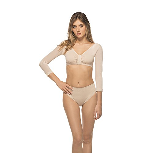 Annette Women's Arm Sleeve Compression Garment, Beige, Medium