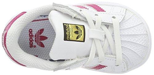 adidas Unisex Baby Superstar Gymnastikschuhe Mehrfarbig (Ftwwht/bopink/ftwwht Bb9077)