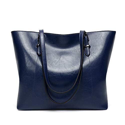 Cawmixy Classic Woman Clutches Bags Purses and Handbags for Women Tote Satchel Shoulder Bags (blue)