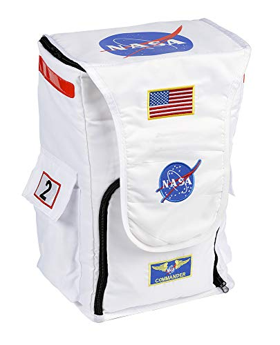 Aeromax Jr. Astronaut Backpack, White, with NASA patches ()