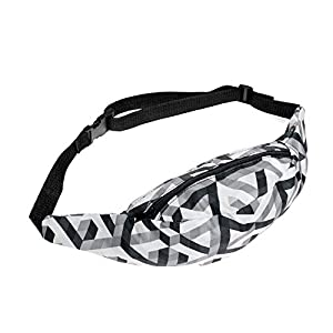 HN Sports Hiking Running Belt Waist Bag Pack For Women Fashion Pouch Zip (E)