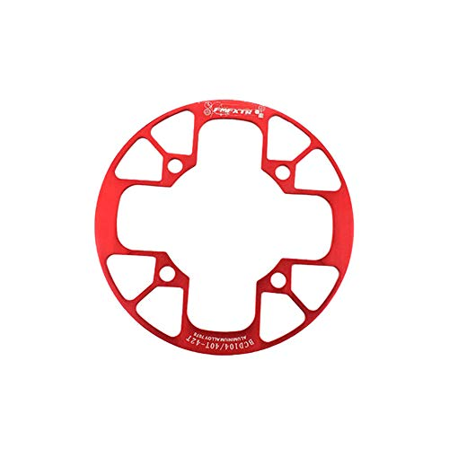 osierr6 Bicycle Sprocket Wheel, 60T Large Chainring, Road Bike Sprocket Wheel, Folding Bike Dead Fly Modified Single Plate, Aluminum Alloy Material(40-42T,Red)