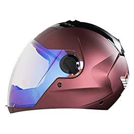Steelbird Exclusive SBA-2 7WINGS Full Face Helmet in Matt Finish Helmet Fitted with Clear Visor and Extra Night Vision…