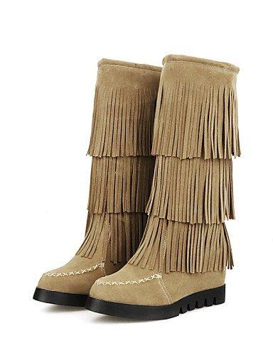 Nieve La Eu35 De 5 5 Cn34 Ante Mujer Zapatos Brown Eu4 us5 Sintético Yellow Botas Moda Xzz Vestido A Cn43 Redonda Uk8 Punta Uk3 us10 Eu42 Casual Plataforma 5zqXn4xw