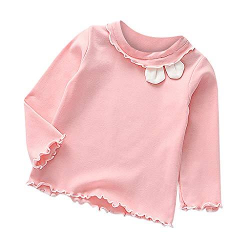 TIFENNY Girl's Tops Girl Blouse Outwear Long Sleeves Bottoming Shirt Children Pure Color T-Shirt Jacket Cartoon Rabbit Ears (Jordan Retro 7 Year Of The Rabbit)