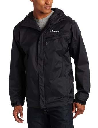 Columbia Men's Watertight Packable Rain Jacket, Black, Medium