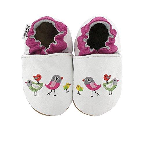 chaussures de bébé brodé dans différents modèles de HOBEA-Germany, Größe Schuhe:26/27 (30-36 Mon), bestickte Motive:Vögel