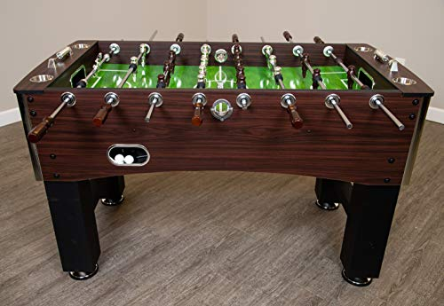 Hathaway 56-Inch Primo Foosball Table, Family Soccer Game with Wood Grain Finish, Analog Scoring and Free Accessories