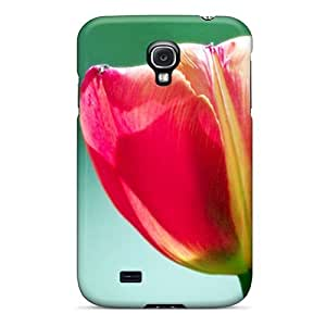 For Galaxy S4 Protector Case Pink Tulip Flower Phone Cover