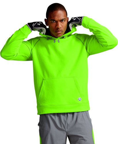 Under Armour Men's NFL Combine Authentic ColdGear® Infrared Hoodie Medium HYPER GREEN