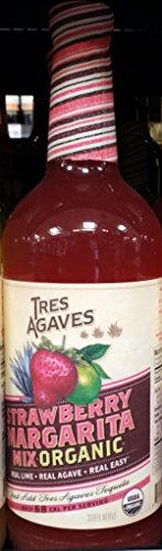 - Tres Agaves Organic Strawberry Margarita Mix 1L (33.8 Oz) (Pack of 1)