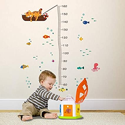 Wall Stickers - 10 Types Cartoon Measure Height Gauge ...