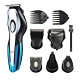 Mens Beard/Nose Hair Trimmer Kit with Stand, Men's Grooming Kit,...