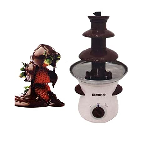 Fuente de chocolate 3 escalones electrica 500ml 80W fondue 37 x 19 cm: Amazon.es