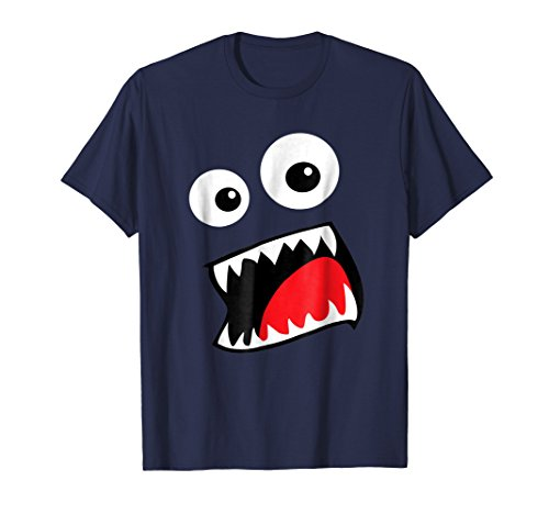 Monster Face Costume Shirt Funny Halloween Kids -