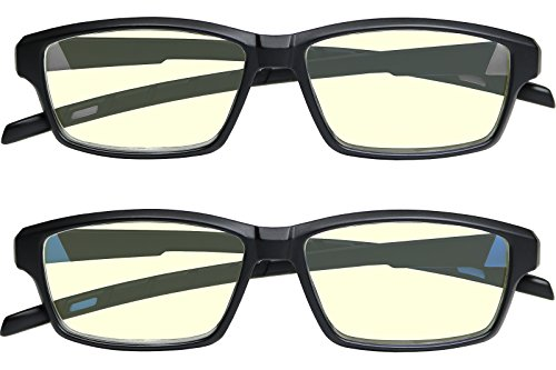 Anti Glare Computer Reading Glasses Blue Light Blocking Reduce Eyestrain for Computer and Screens Sport for Men and Women
