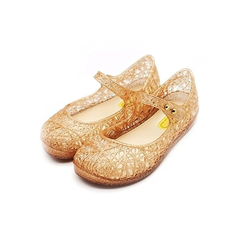Glitter Jelly - TANDEFLY Baby Girls Mary Jane Flat Shoes Glitter Nest Lines Kid's Sandals