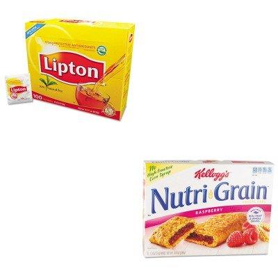 kitkeb35845lip291-value-kit-kelloggs-nutri-grain-cereal-bars-keb35845-and-lipton-tea-bags-lip291