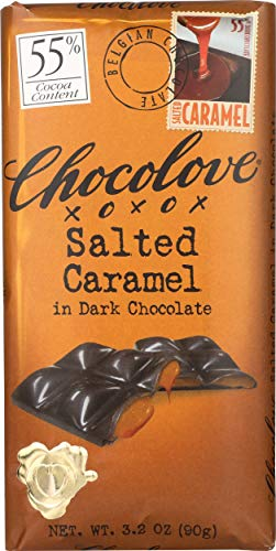 Chocolove, Chocolate Bar Dark Caramel, 3.2 oz