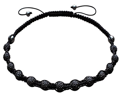Jet Black Crystal Necklace - 2
