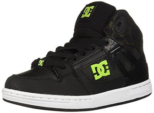 (DC Boys' Pure HIGH-TOP SE Skate Shoe, Black/CAMO, 5 M US Big Kid)