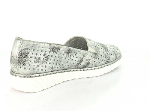 REMONTE Women's Leather Moccasin Slip On Shoe (D3701-81) White 22ZW9vfAis