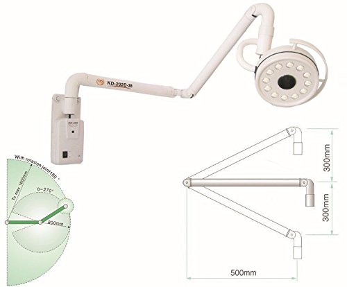 Professional Dental Surgical Light-- Original Brand 36W Wall Hanging LED Surgical Medical Exam Light Shadowless Lamp Cold Light NEW by Oubo Dental by Url dental (Image #2)