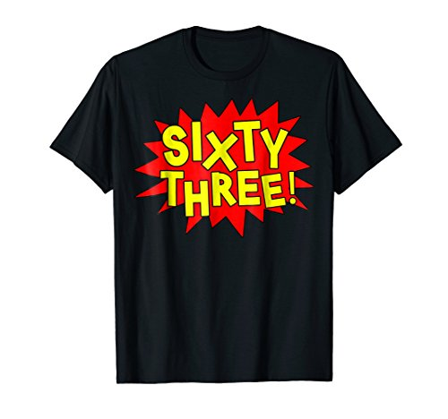 (Happy 63rd Birthday Party Pop Art Comic Retired T-shirt)