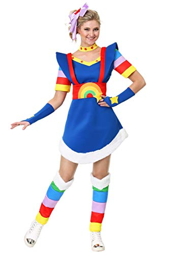 Adult Plus Size Rainbow Brite Costume Women's Rainbow Brite Costume 1X