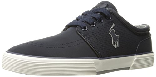 Polo Ralph Lauren Men's Faxon Low Sneaker, Dark Navy, 10 D US