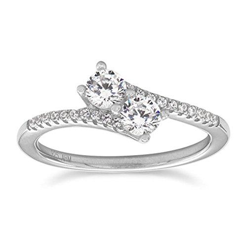 Silver 4 Side Diamond - 3