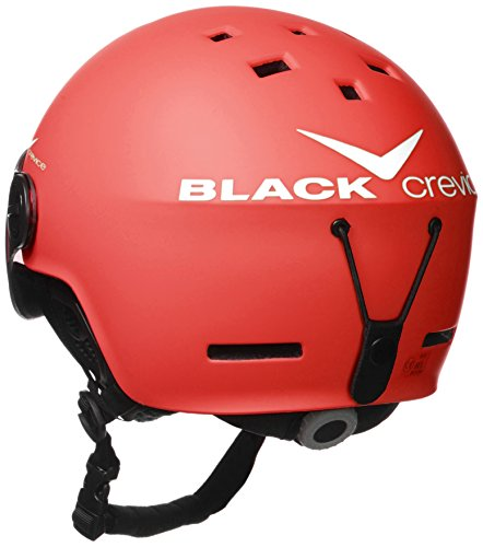 Crevice casque de ski-noir Rouge - Rouge/blanc