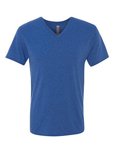 Next Level Mens Tri-Blend V-Neck Tee 6040 -VINTAGE ROYA XL