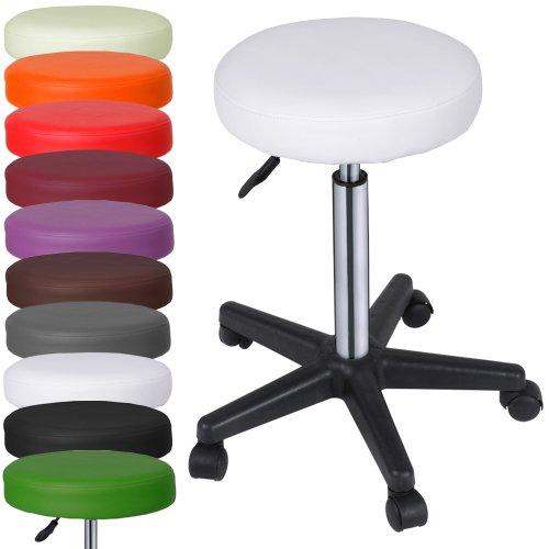 Ikea Sgabelli Con Ruote.Miadomodo Sgabelli Regolabili Con Ruote Colore Bianco Set Da 1