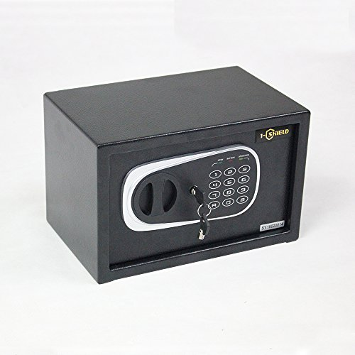 1-SHIELD Electronic Digital Lock Keypad Small Safe Box for Home Gun Cash or Jewelry